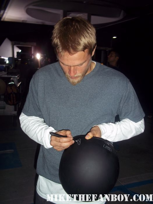 sons of anarchy filming on location hot and sexy charlie hunnam stops to sign autographs for waiting fans charlie hunnam sexy charlie hunnam hot charlie hunnam shirtless Jackson 'Jax' Teller