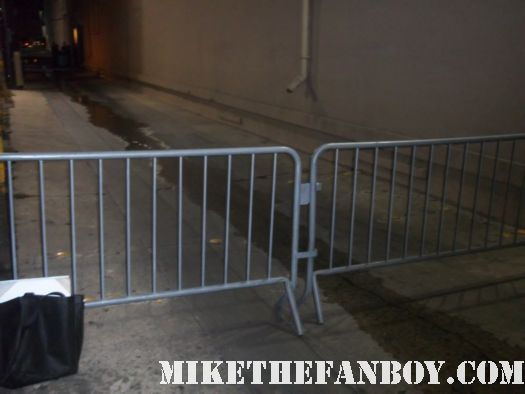 the barricade that cb and anushika were standing behind waiting for nathan fillion after a talk show taping rare signed autograph buffy the vampire slayer