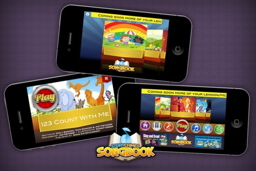 StoryChimes SongBook iphone ipad app featuring the songs of john lennon and paul mccartney rare promo ipad iphone app