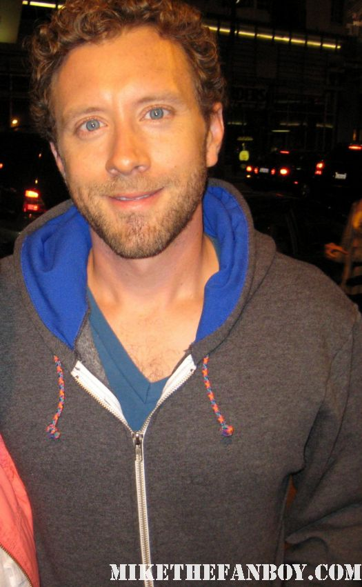 T.J. Thyne Bones Star T.J. Thyne signs autographs for fans outside the arclight theatre in hollywood
