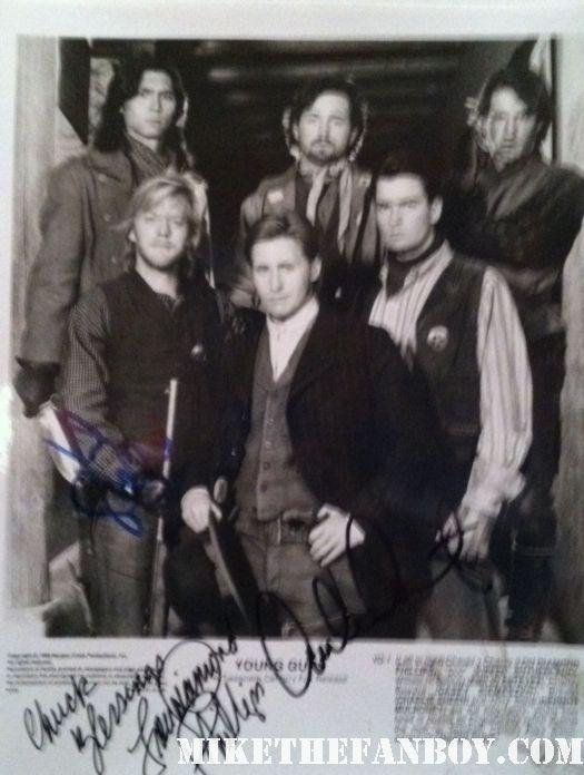 Emilio estevez signed autogragh young guns rare press still proom I'll make you famous