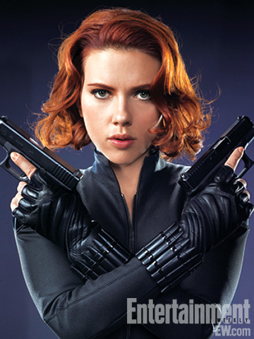 scarlett johanssen black widow the avengers rare promo photo shoot scarlett johanssen black widow sexy hot joss whedon entertainement weekly magazine 2011