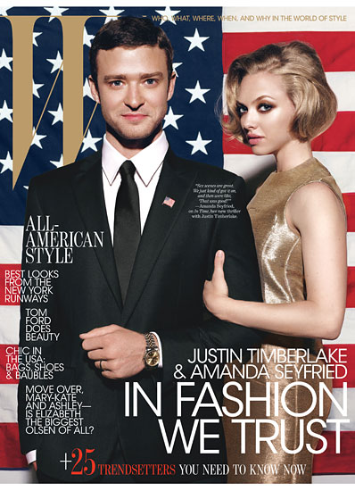 justin timberlake and amanda seyfried cover w magazine oct. 2011 justin timberlake and amanda seyfriend cover w magazine hot sexy rare promo black and white political w magazine october 2011