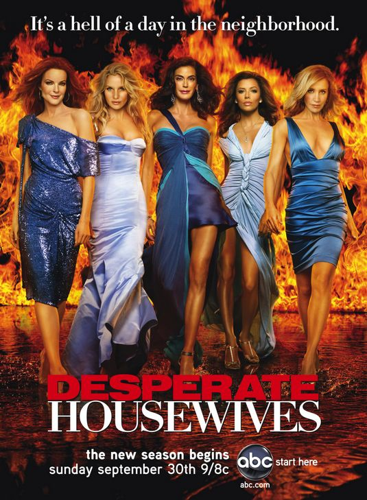 desperate housewives rare season 4 four promo poster teri hatcher marcia cross eva longoria rare hot sexy felicity huffman nicolette sheridan flame poster