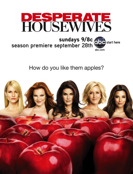 desperate housewives rare season 5 Five promo poster teri hatcher marcia cross eva longoria rare hot sexy felicity huffman nicolette sheridan apples floating headsposter