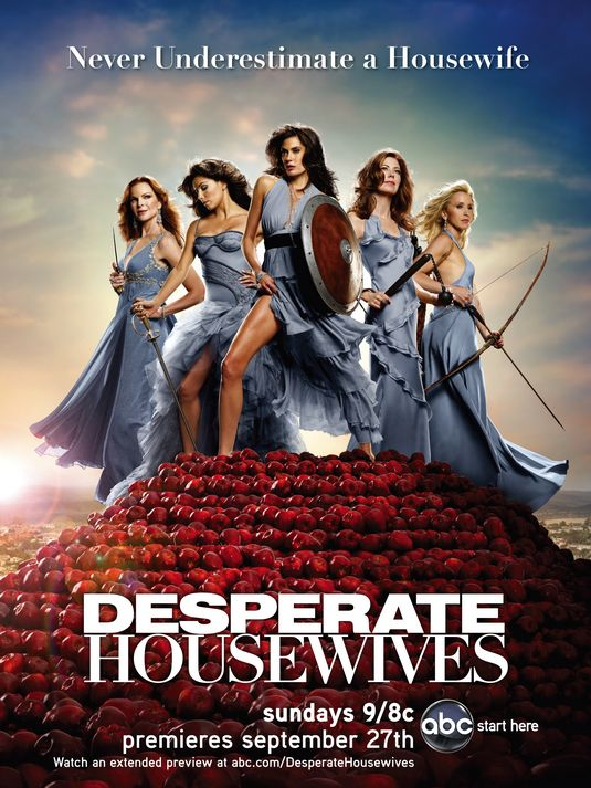 desperate housewives rare season 6 Six promo poster teri hatcher marcia cross eva longoria rare hot sexy felicity huffman dana delany gladiator headsposter