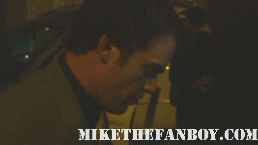 dexter sta michael c hall signs autographs for fans after leaving the showtime emmy party rare hot sexy dexter six feet under rare signed autograph hot photoshoot