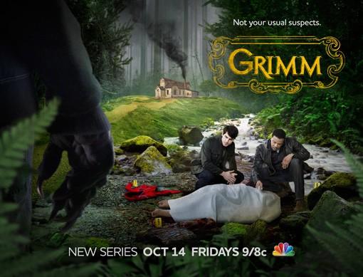 NBC's new television series grimm rare promo poster fantasy rare hot sexy fairy tales