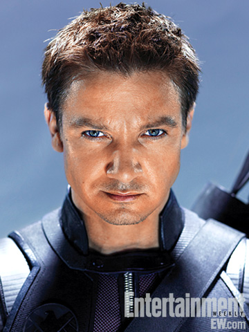hawkeye the avengers rare promo photo shoot jeremy renner as hawkeye sexy hot joss whedon entertainement weekly magazine 2011