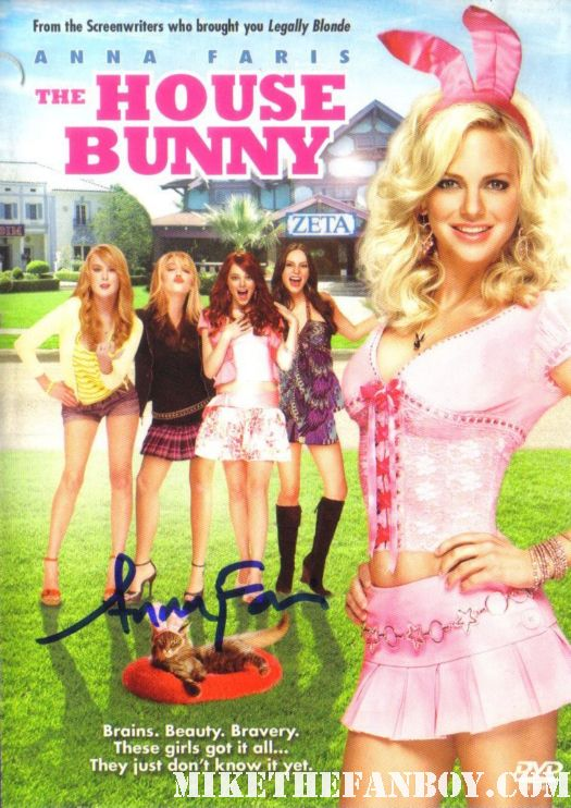anna farris signed autograph the house bunny dvd kat dennings rare promo hot sexy