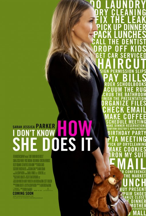 i_dont_know_how_she_does_it sarah jessica parker rare promo teaser one sheet movie poster carrie bradshaw