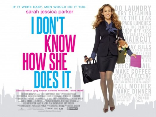 i_dont_know_how_she_does_it_ver2 uk quad mini movie poster sarah jessica parker promo hot sexy carrie bradshaw rare sex and the city la story