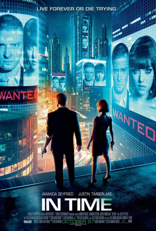 in time rare one sheet movie poster amanda seyfried justin timberlake hot sexy poster rare promo press still blade runner style justin timberlake hot justin timberlake shirtless justin timberlake abs