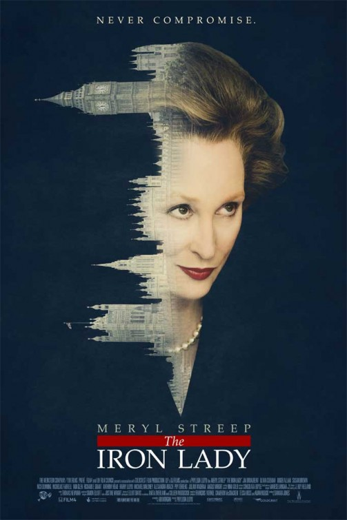 The iron Lady rare one sheet movie poster meryl streep is margaret thatcher rare promo poster movie england