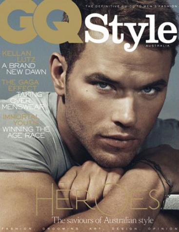 shirtless kellan lutz flexes his muscles in this hot and sexy photoshoot from gq austrailia magazine 2011 september hot sexy kellan lutz rare twilight promo kellan lutz gq cover