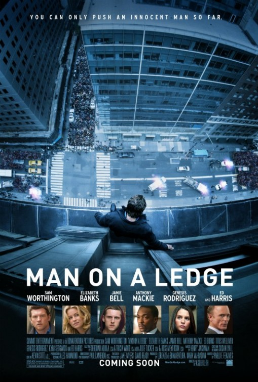man on a ledge rare one sheet movie poster sam worthington elizabeth banks hot sexy rare promo poster avatar sam worthington shirtless sam worthington hot sam worthington rare
