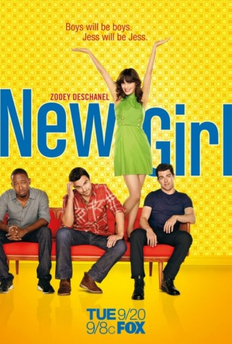 zooey deschanel in the New Girl rare promo poster Fox new series hot sexy weeds star 500 days of summer rare promo