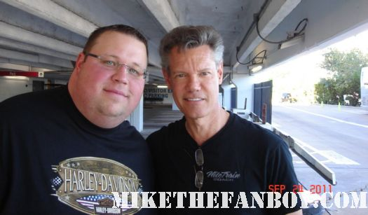 chuck gets to meet country music legend randy travis rare promo signed autograph nasal legend