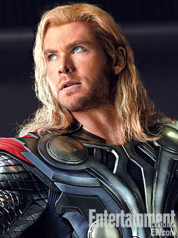 the avengers rare promo photo shoot chris hemsworth as thor sexy hot norse god joss whedon entertainement weekly magazine 2011