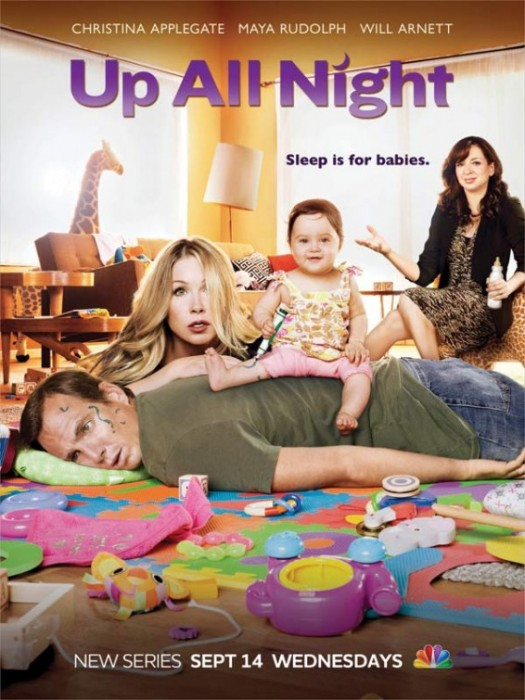christina applegate in the new NBC television series up all night with will arnett maya rudolph rare promo poster married with children jessie