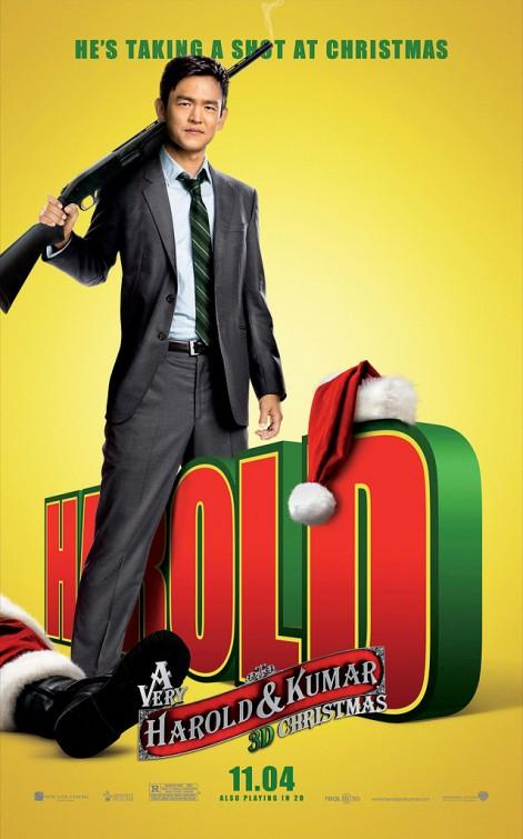very_harold_and_kumar_christmas_ver2 john cho rare promo individual mini one sheet movie poster rare promo