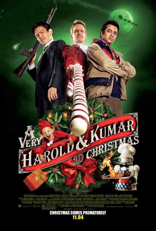 very_harold_and_kumar_christmas_ver5 john cho neil patrick harris kal penn rare promo one sheet movie poster promo