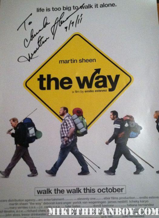 the way rare promo mini poster signed autographed by emilio estevez and martin sheen rare promo hot