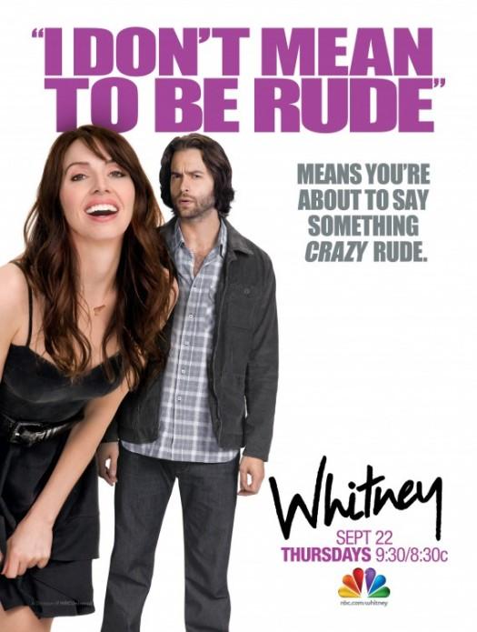 nbc's new series whitney rare promo poster whitney cummings chris D'Elia ugh...