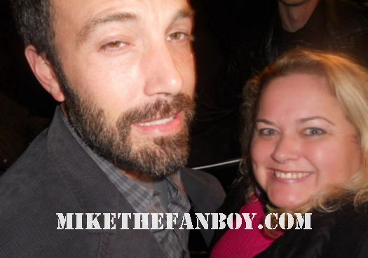 pretty in pinky with sexy hunk ben affleck after a q and a rare signed autograph promo sexy stud