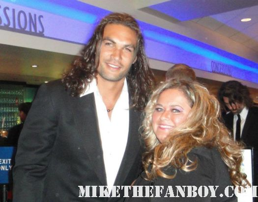 pretty in pinky with  jason momoa from Conan the barbarian at the 2011 emmy awards hot sexy rare er