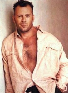Bruce willis die hard star sexy shirtless rare promo shoot hot rare moonlighting promo chest hair sexy rare naked