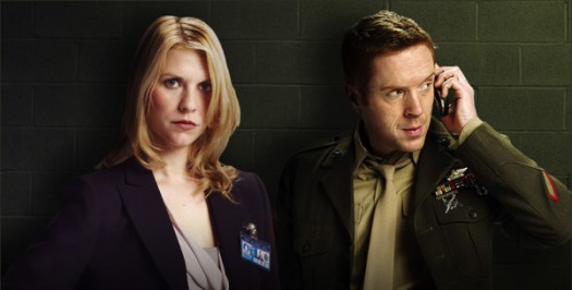 Claire-Danes-and-Damian-Lewis-in-Homeland-600x304 showtime's homeland promo press poster one sheet artwork rare claire danes mandy patinkin rare sexy hot promo press still