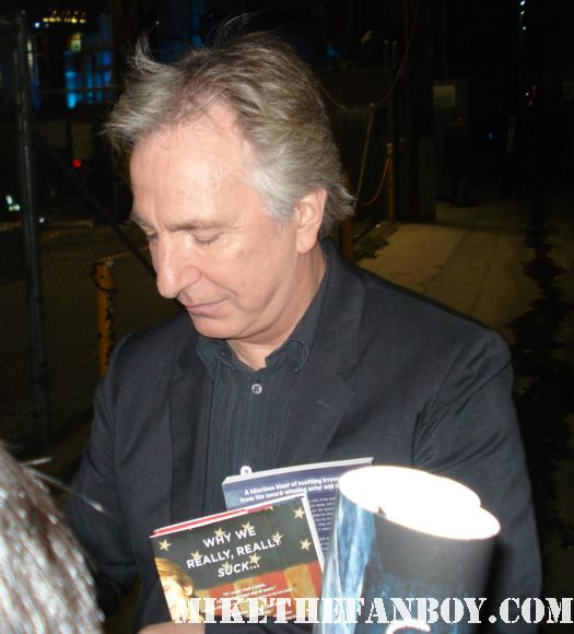 alan rickman from Harry potter robin hood prince of thieves galaxy quest signed autograph rare promo hot severus snape
