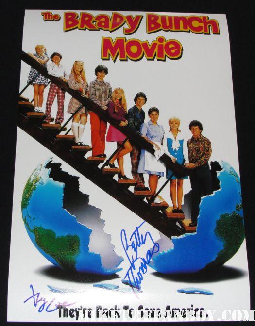 the brady bunch movie promo mini movie poster signed autograph gary cole betty thomas rare promo hot mrs. brady