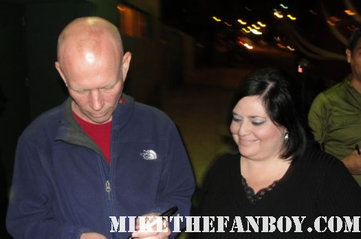erasure founder and music legend vince clarke signing autographs for fans outside the hollywood palladium 10-1-11 tomorrow's world tour