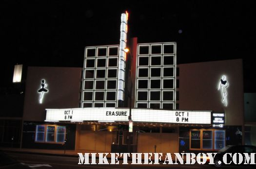 the hollywood palladium 10-1-11 marquee for the erasure concert in los angeles tomorrow's world tour rare
