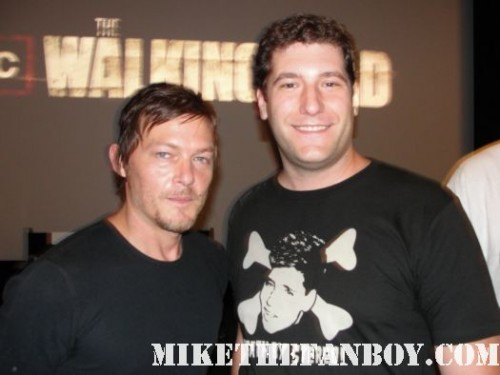 Mike The Fanboy with Norman Reedus mike the fanboy with Norman Reedus at the walking dead season 2 premiere screening Daryl Dixon