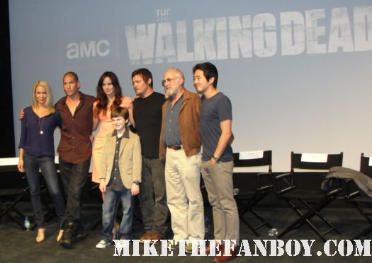 The Walking Dead season 2 premiere with cast q and a Jon Bernthal! Sarah Wayne Callies! Laurie Holden! Jeffrey DeMunn! Steven Yeun! Chandler Riggs! Norman Reedus! cast photo