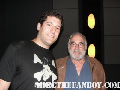 mike the fanboy with Jeffrey DeMunn Dale Horvath at the walking dead season 2 premiere SAG screening