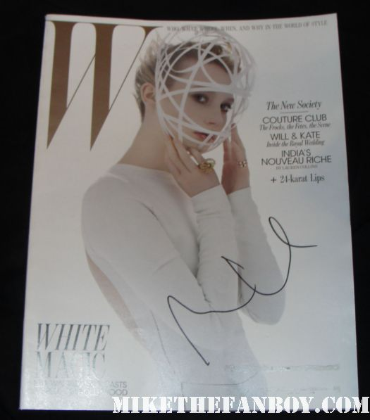 Mia Wasikowska signed autograph W magazine cover subscriber issue rare promo hot sexy jane eyre rare promo mark ruffalo Mia Wasikowska signing autographs for fans after a screening of jane eyre in hollywood sexy hot rare alice in wonderland