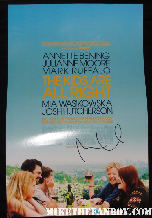 Mia Wasikowska signed autograph the kids are alright promo mini poster rare promo mark ruffalo Mia Wasikowska signing autographs for fans after a screening of jane eyre in hollywood sexy hot rare alice in wonderland