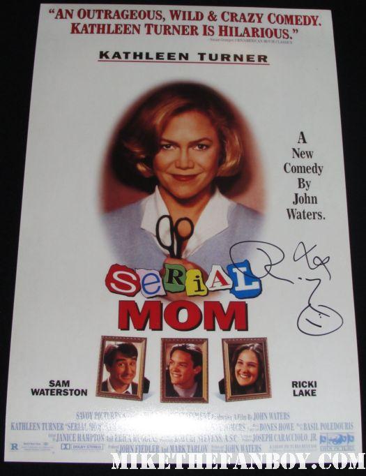 ricki lake kathleen turner signed autograph serial mom autographed promo mini poster rare promo