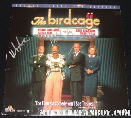 hank azaria signed autograph the birdcage laserdisc rare promo the smurfs hot sexy rare promo simpsons