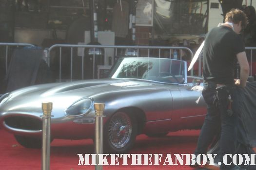 in time car prop in time world movie premiere red carpet with justin timblerlake, amanda seyfried matt bomer johnny galecki hot sexy rare promo