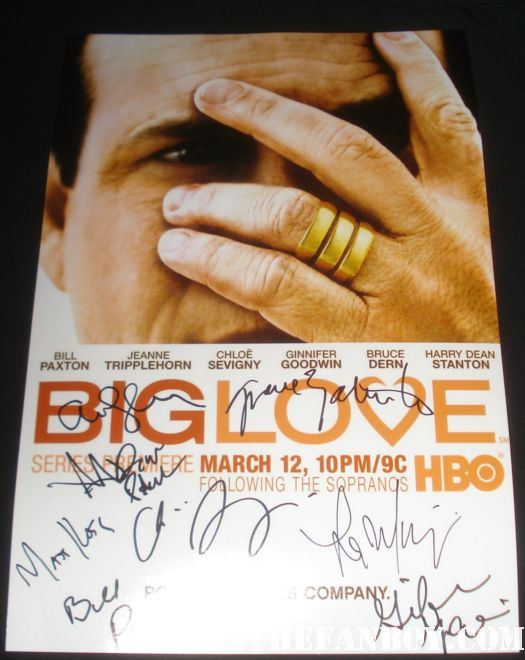 big love cast signed autograph poster signed amanda seyfried bill paxton ginnifer goodwin rare promo hot sexy