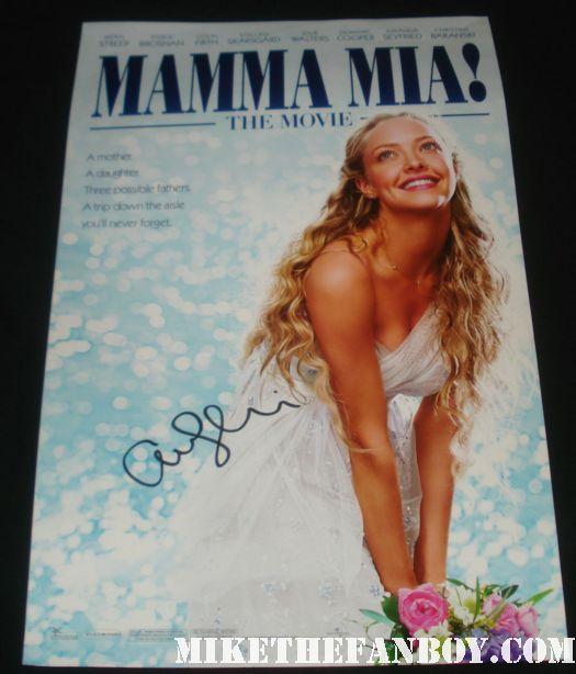 amanda seyfried signed autograph mamma mia promo mini movie poster rare promo hot sexy rare