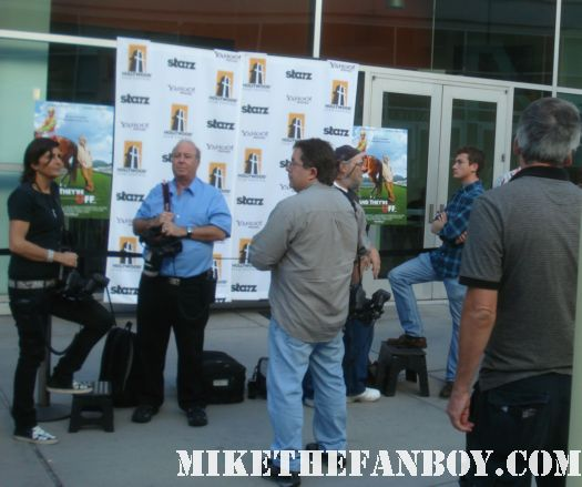 Mark Moses signing autographs for fans at the and they're off movie premiere mad men desperate housewives and they're off... red carpet premiere martin mull laura san giacomo mark moses sean astin rare promo