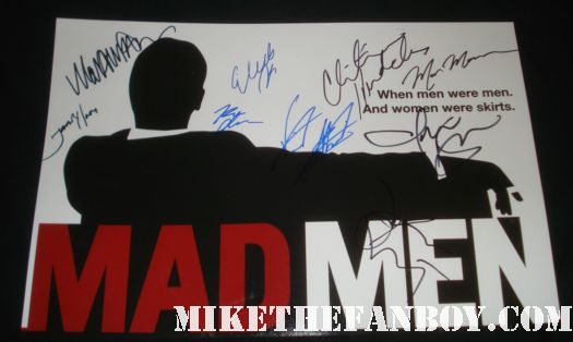 mad men signed autograph rare promo mini poster mark moses jon hamm Mark Moses signing autographs for fans at the and they're off movie premiere mad men desperate housewives and they're off... red carpet premiere martin mull laura san giacomo mark moses sean astin rare promo christina hendricks elizabeth moss signed autograph