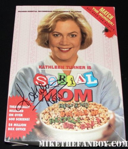 serial mom rare promo cereal box promo video signed autograph kathleen turner rare promo