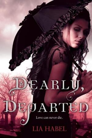 Dearly Departed by Lia Habel book just jacket front cover art rare promo hot sexy